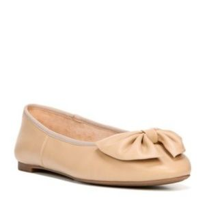 Sam & Libby Ballet Flat with Bow Nude sz 9